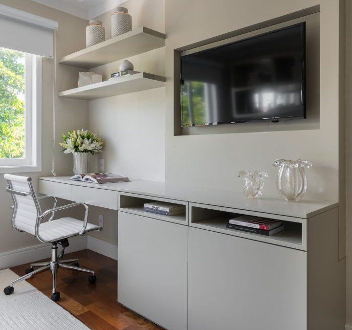 Moveis sob medida - Home office – É possível criar espaços de trabalho tranquilos, funcionais e produtivos mesmo em espaços reduzidos.